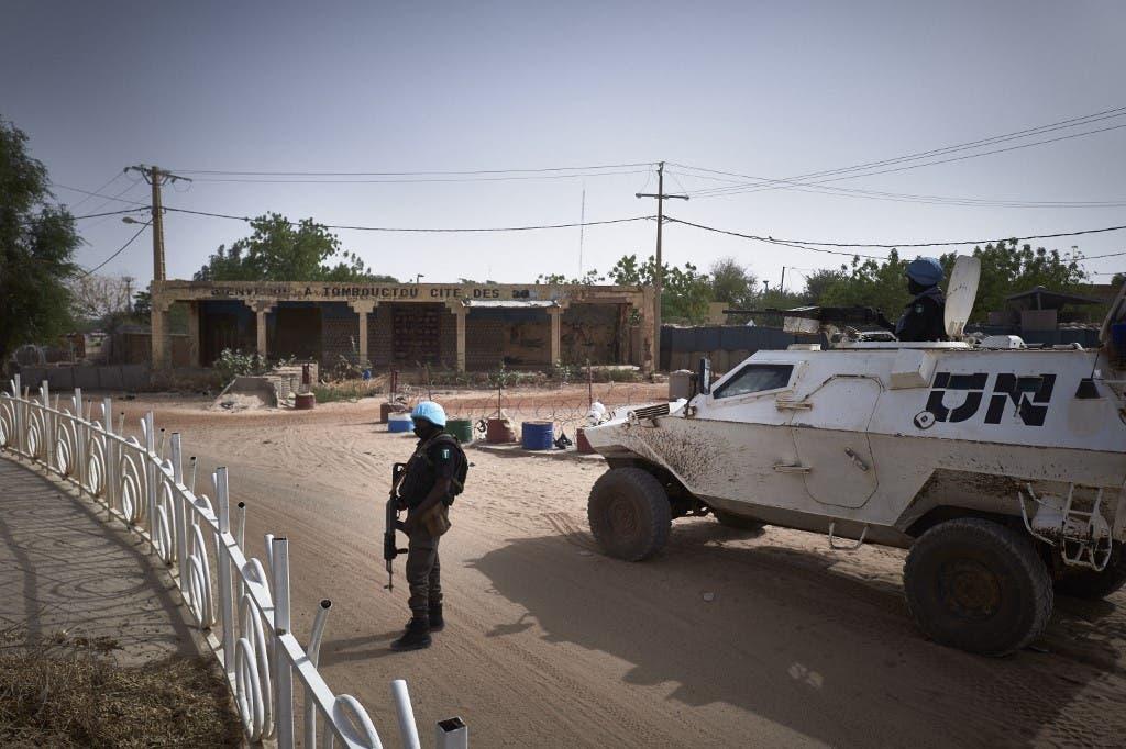 عنصر من بعثة الأمم المتحدة في مالي - أرشيفية من فرانس برس