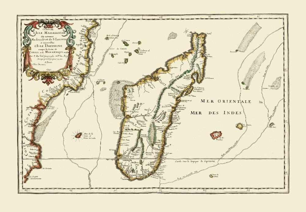 خريطة قديمة لمدغشقر