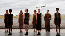 Hermes hosts fashion show at Paris airport hangar