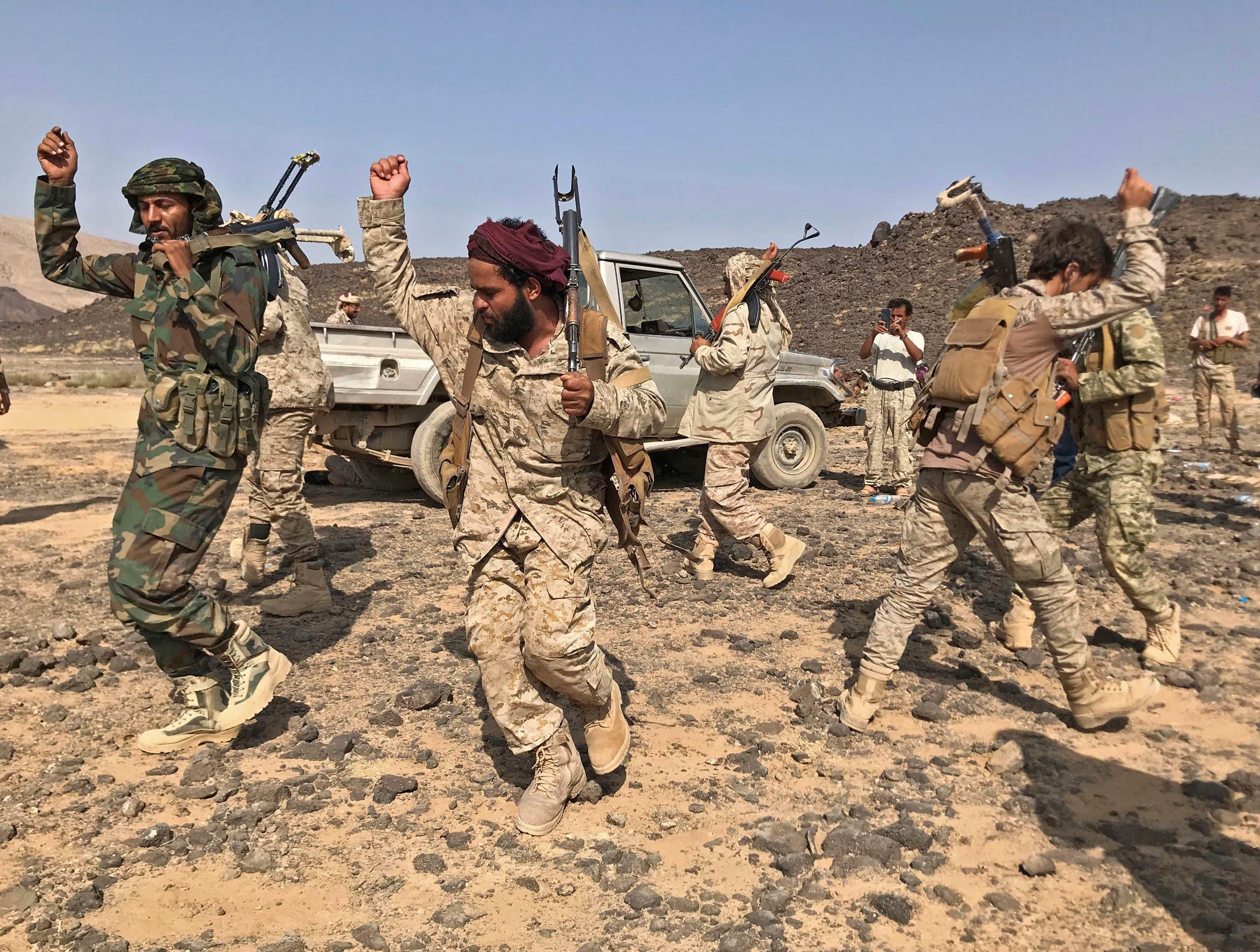 عناصر من الجيش اليمني في مأرب (أرشيفية- فرانس برس)