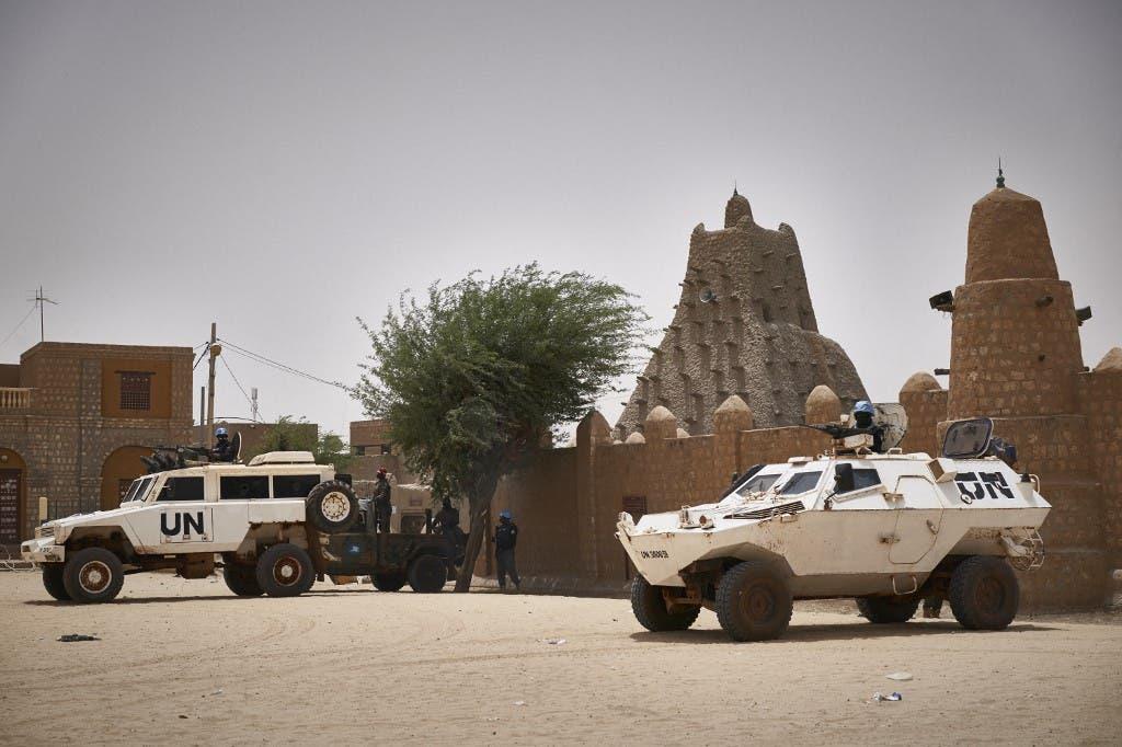 عناصر من بعثة الأمم المتحدة في مالي - فرانس برس