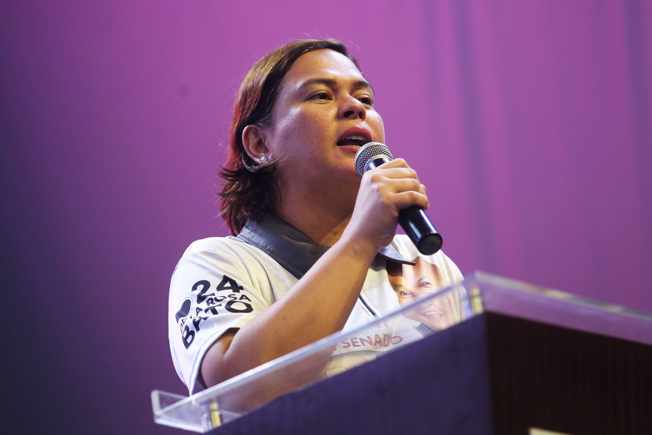 سارة دوتيرتي كاربيو  خلال مؤتمر سياسي محلي في 2019