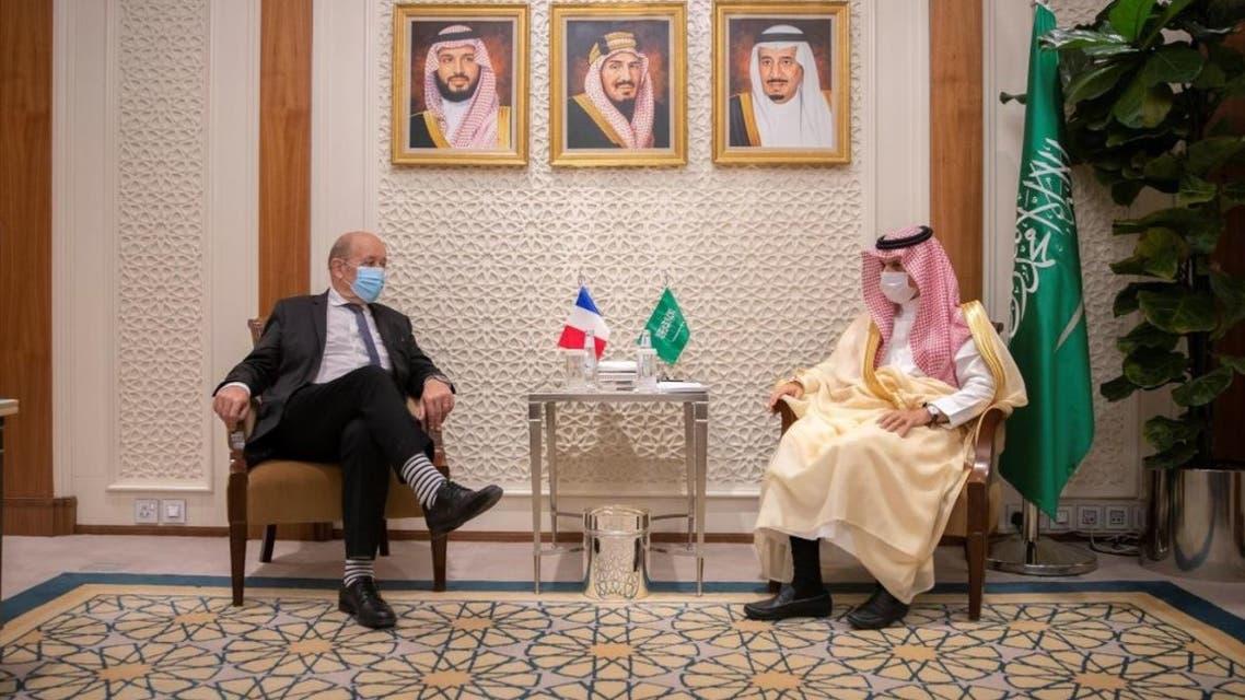 جانب من لقاء وزيرا خارجية السعودية وفرنسا