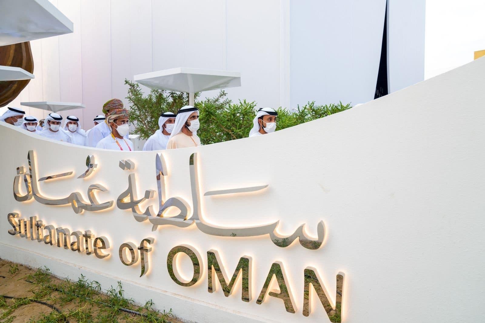 Sheikh Mohammed bin Rashid Al Maktoum visits Oman's pavillion at Expo 2020 Dubai.1 (Twitter)