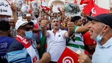 Supporters of Tunisian president protest 'coup' accusations