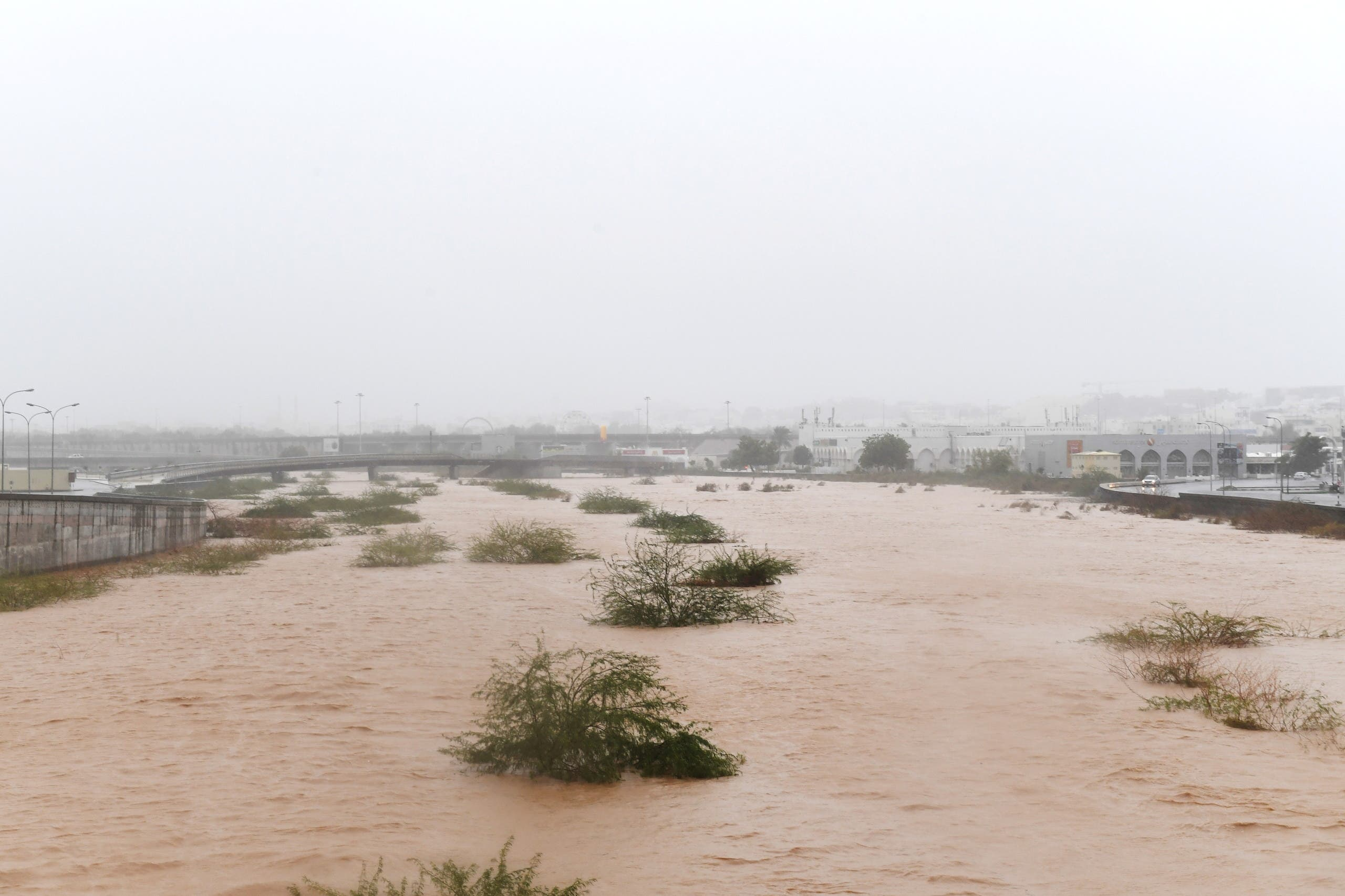 Streets are flooded as Cyclone Shaheen makes the landfall in Muscat, Oman, October 3, 2021. (Reuters)