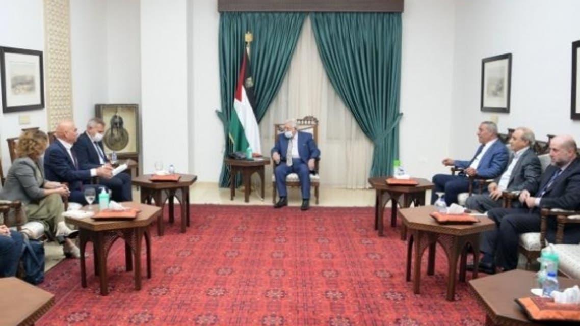 اجتماع عباس والوفد الإسرائيلي