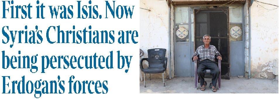 السوري أندريوس زيابدو، وصورة لعنوان التايمز البريطانية