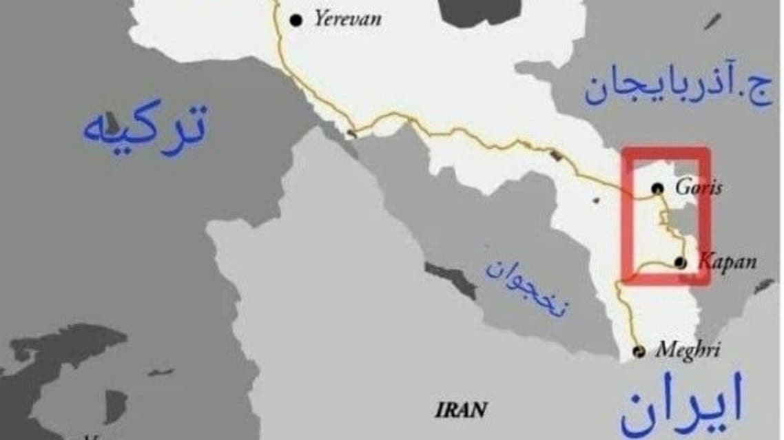 طريق إيران إلى أرمينيا عبر أذربيجان