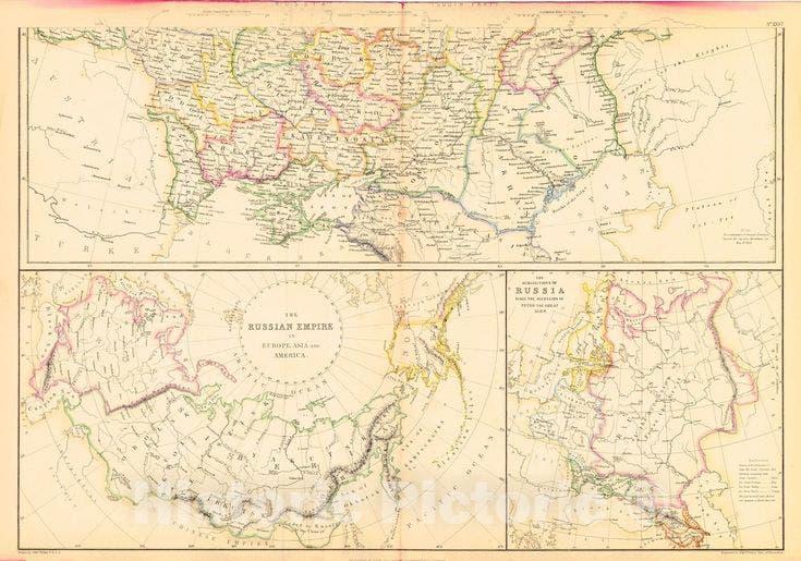 خريطة روسيا في حدود العام 1860