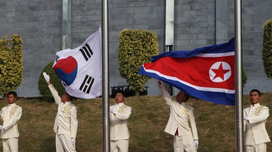 The flags of South Korea and North Korea. (File photo: AFP)