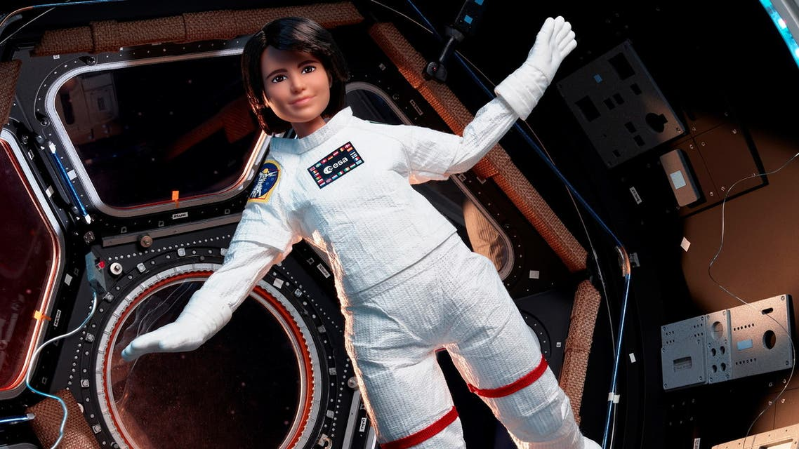 A Barbie doll version of an Italian astronaut Samantha Cristoforetti is seen during a zero-gravity flight with members of the European Space Agency in an unknown location. Courtesy of ESA/Simone Marocchi/Handout via REUTERS ATTENTION EDITORS - THIS IMAGE HAS BEEN SUPPLIED BY A THIRD PARTY. MANDATORY CREDIT. NO RESALES. NO ARCHIVES