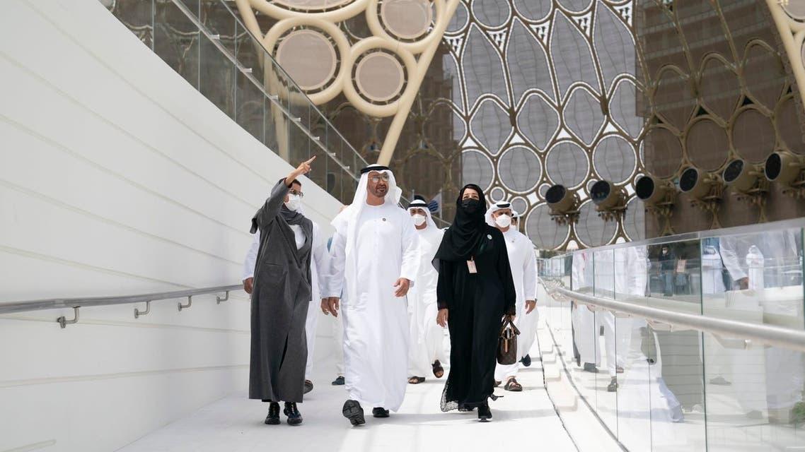 Sheikh Mohamed bin Zayed visits UAE Pavilion at Expo 2020 Dubai. (Twitter)