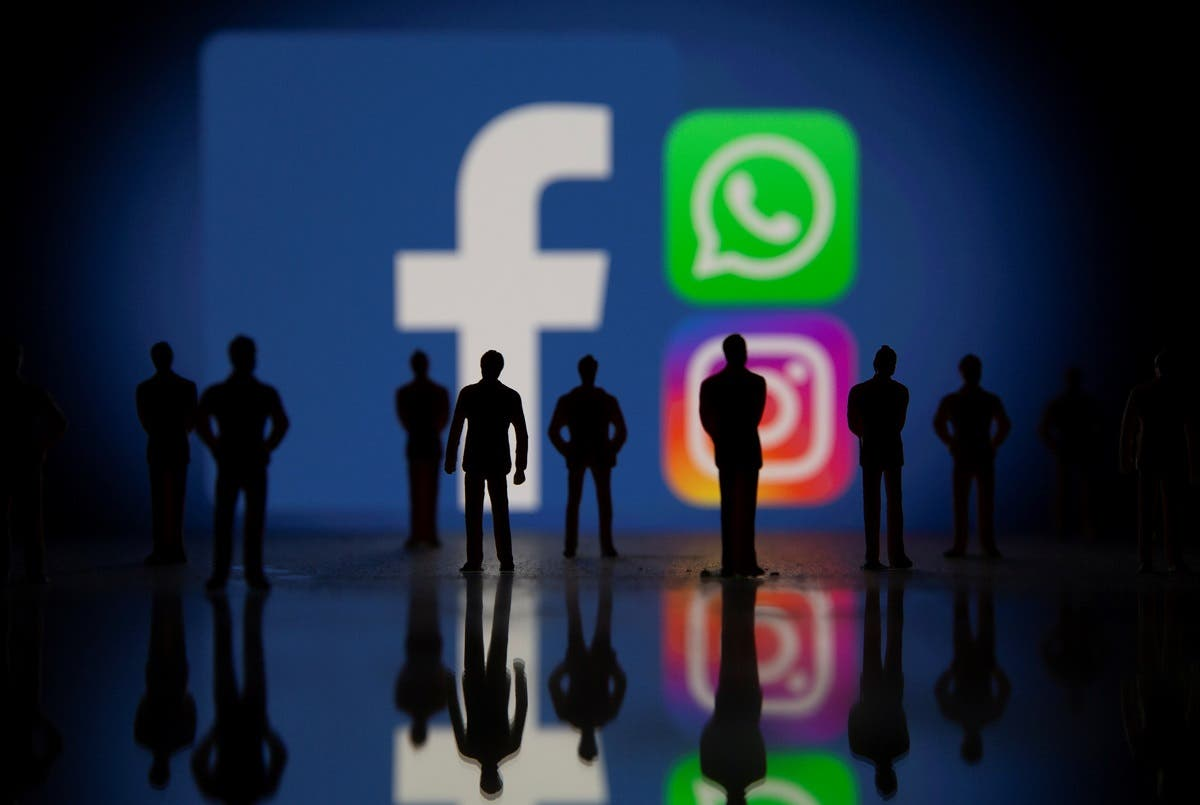 Facebook, Whatsapp and Instagram logos in this illustration taken Oct. 4, 2021. (Reuters)