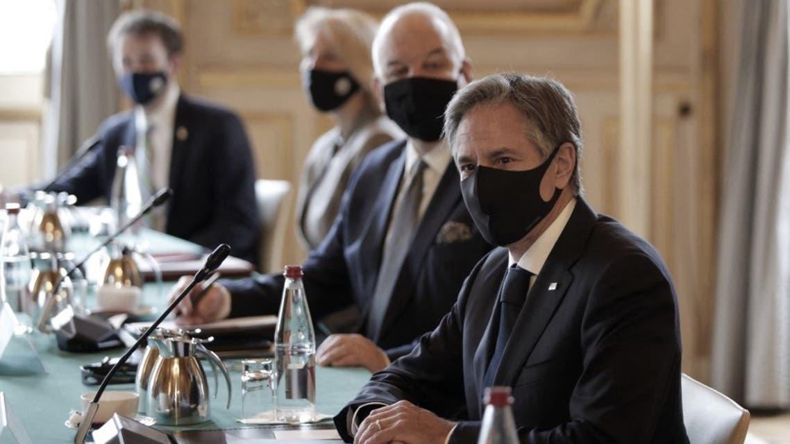 وزير الخارجية الأميركي أنتوني بلينكن في فرنسا (فرانس برس)