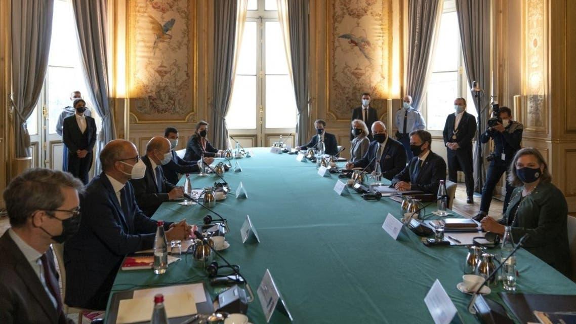 وزير الخارجية الأميركي في باريس (فرانس برس)