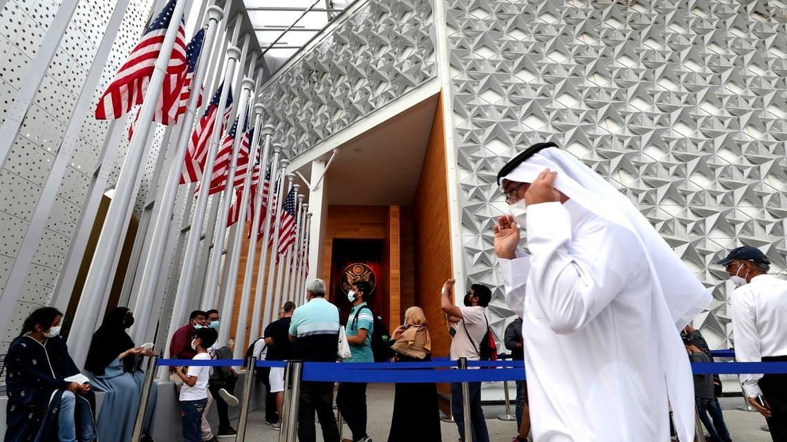People visit the U.S. pavilion at the Dubai Expo 2020, in Dubai, United Arab Emirates, Sunday, Oct. 3, 2021. (File photo: AP)