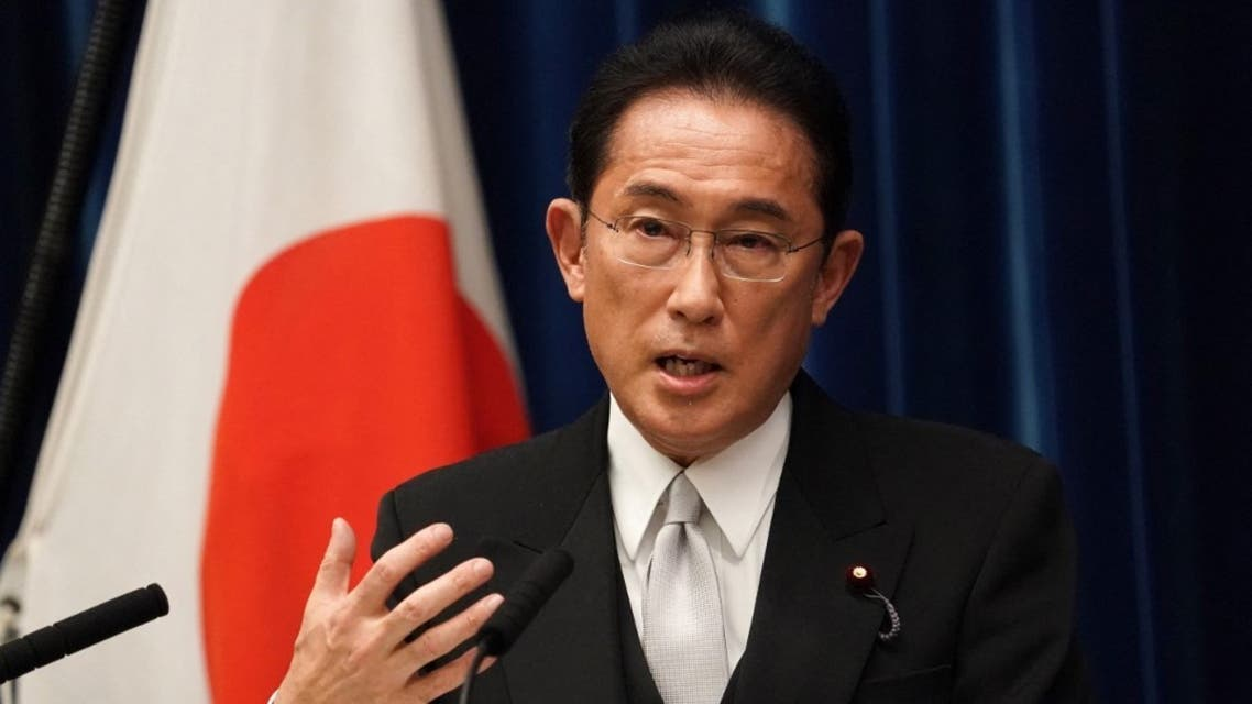 Japan's new Prime Minister Fumio Kishida speaks during a news conference at the prime minister's official residence in Tokyo on October 4, 2021. (AFP)