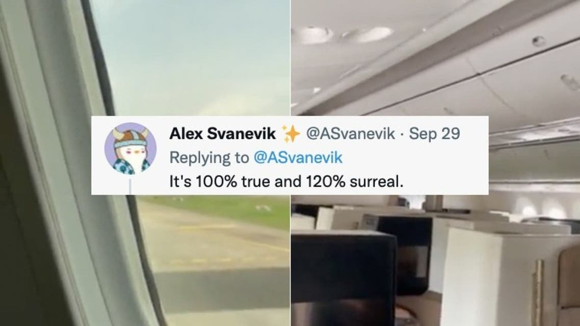 Norwegian national Alex Svanevik, who runs a business in Singapore, documented his experience on social media. (Supplied: Twitter)