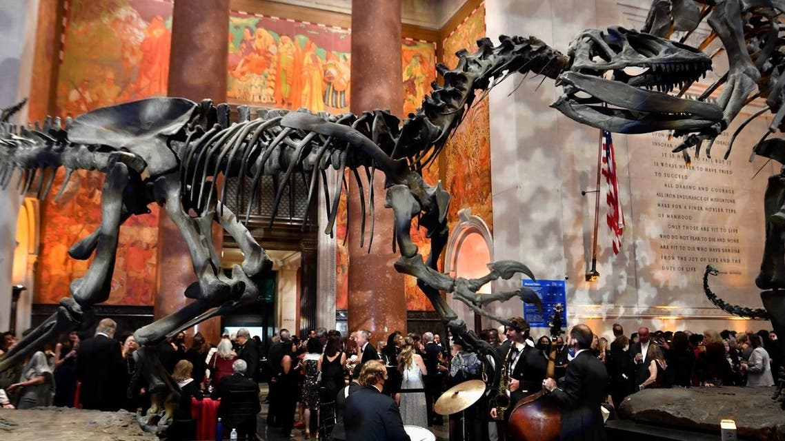 General view of the Pen America Literary Gala at the American Museum of Natural History on October 5, 2021 in New York City. (AFP)