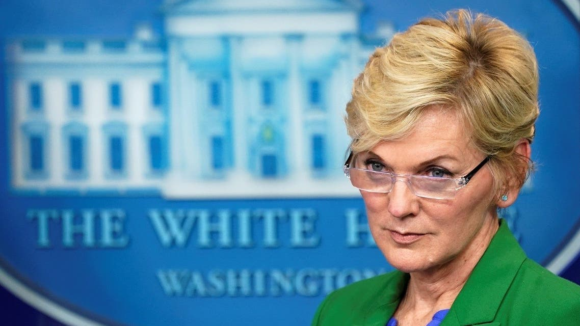US Energy Secretary Jennifer Granholm listens at a press briefing about the Colonial Pipeline cyberattack shutdown, May 11, 2021. (Reuters)