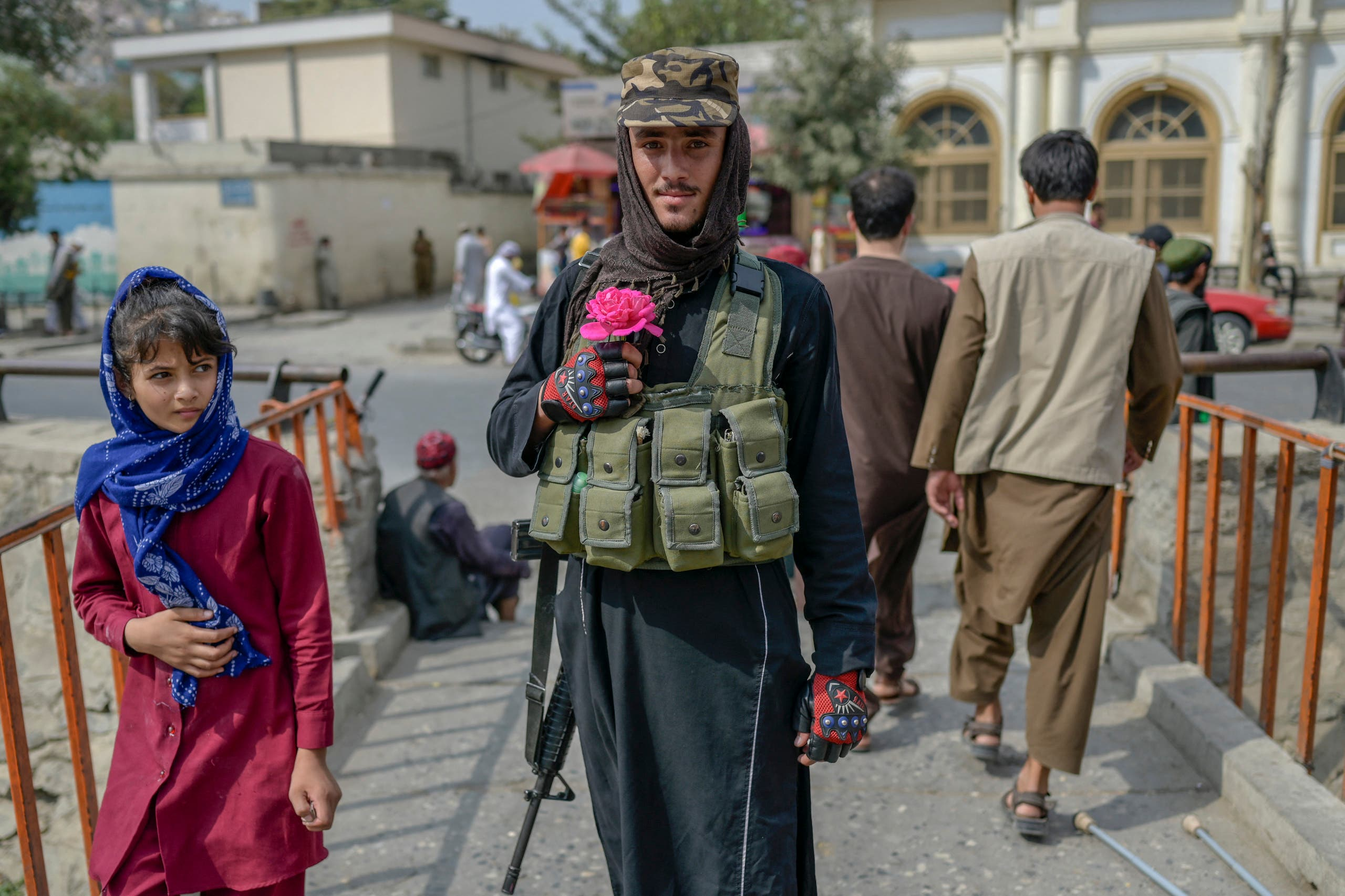 A Taliban fighter in Kabul (archive - Afp)