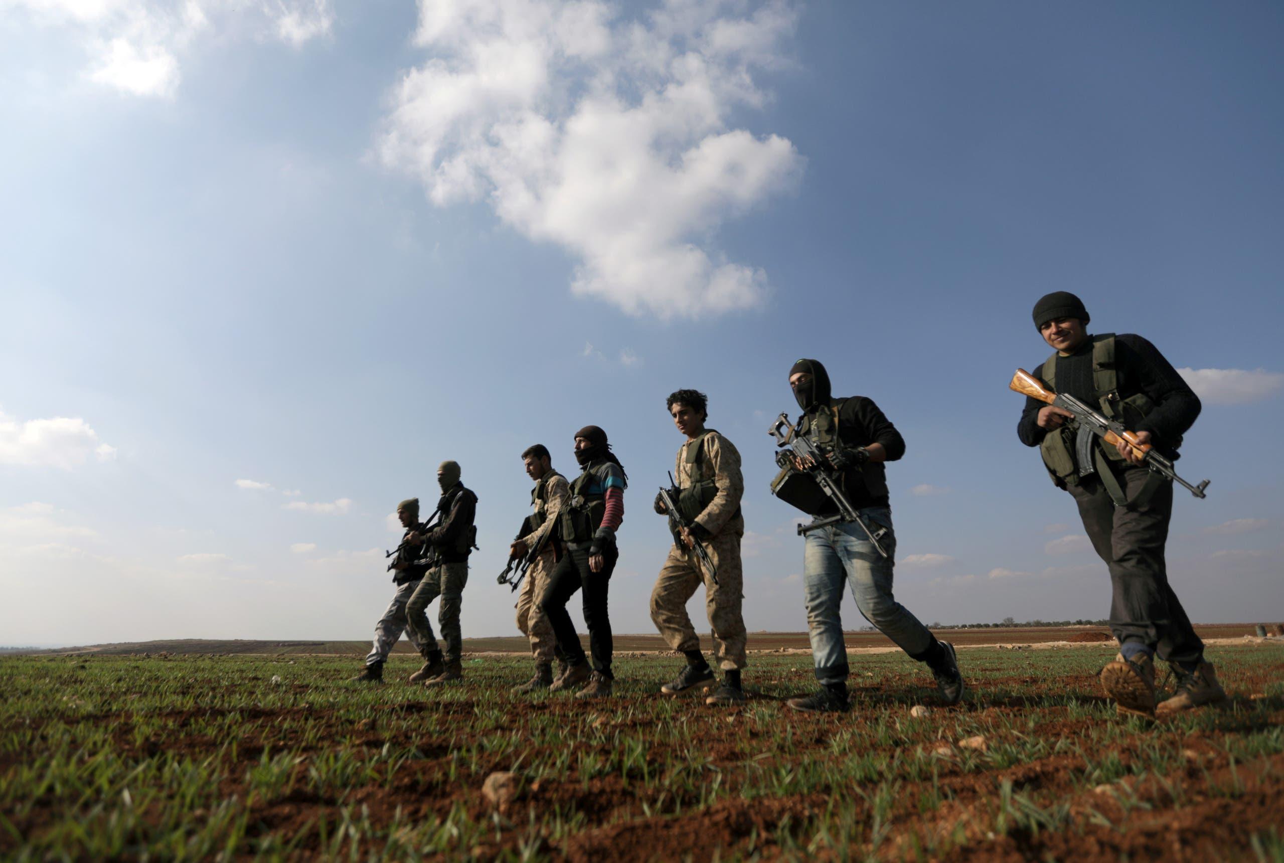 مقاتلون أكراد في سوريا (أرشيفية)