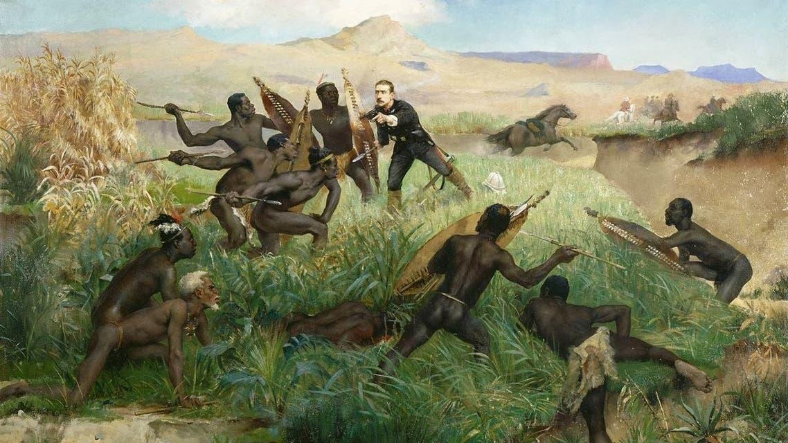 لوحة تجسد حادثة مقتل يوجين لويس نابليون