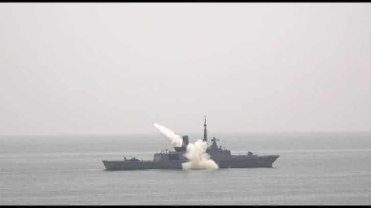 بحری مشق نسیم البحر 13 کے دوران پاکستان اور سعودی فورسز کا جنگی قوت کا مظاہرہ