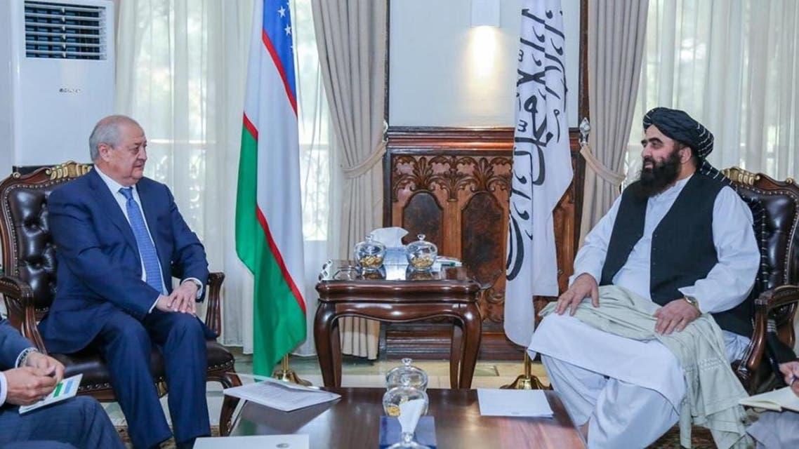 وزیر خارجه طالبان با همتای ازبکستانی