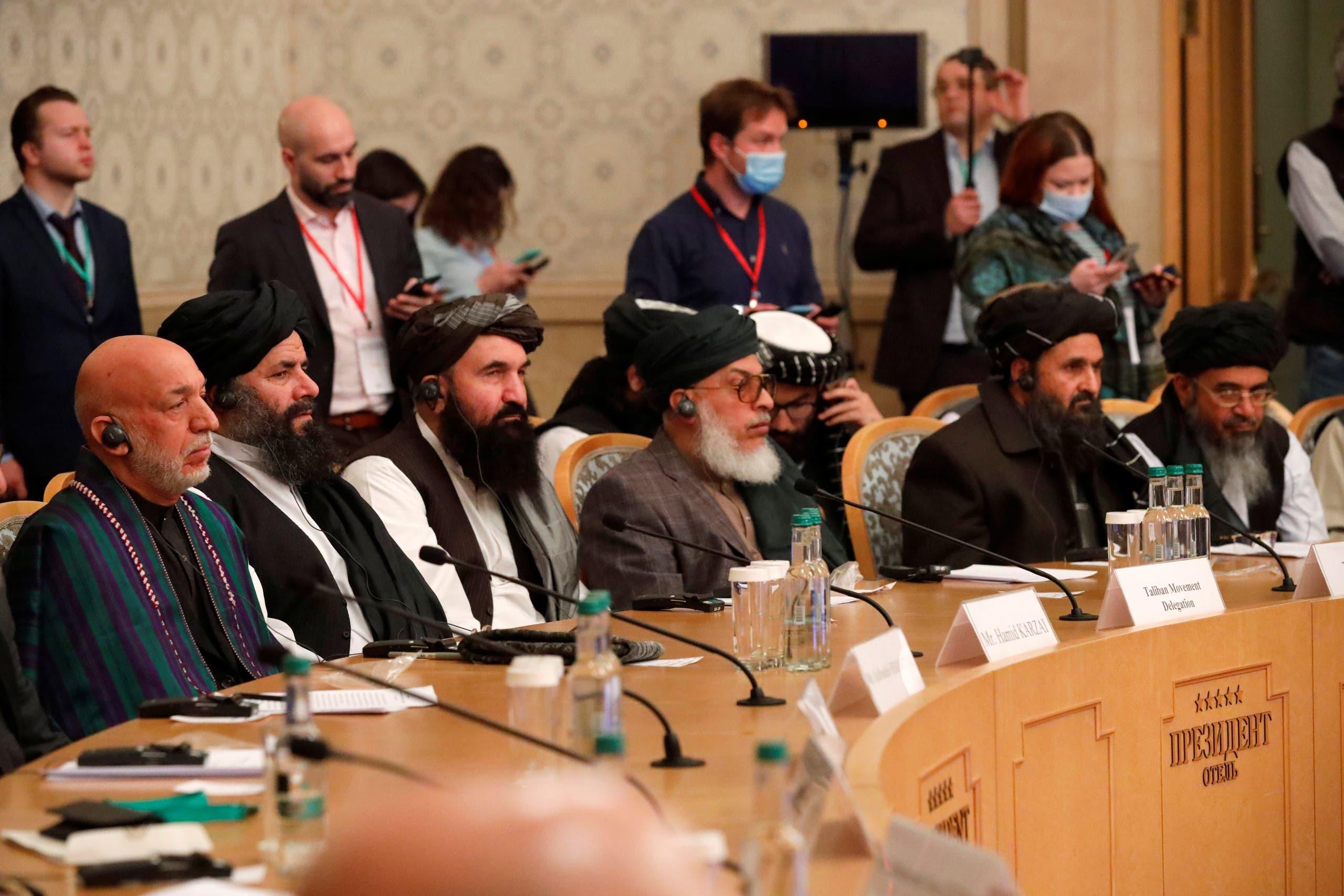 من محادثات سابقة استضافتها موسكو حول أفغانستان في مارس الماضي