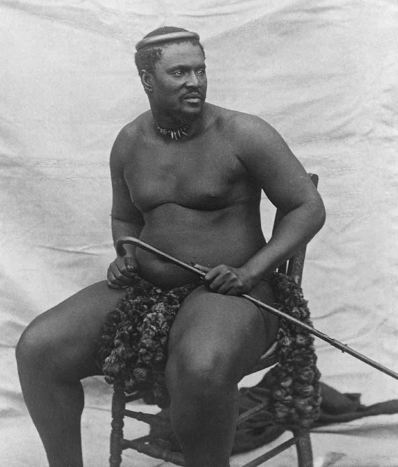 صورة لملك الزولو سيتشوايو كامباندي