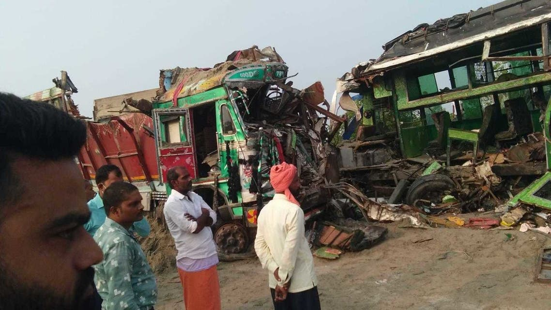 Road accident in Barabanki, India kills 12. (Twitter)