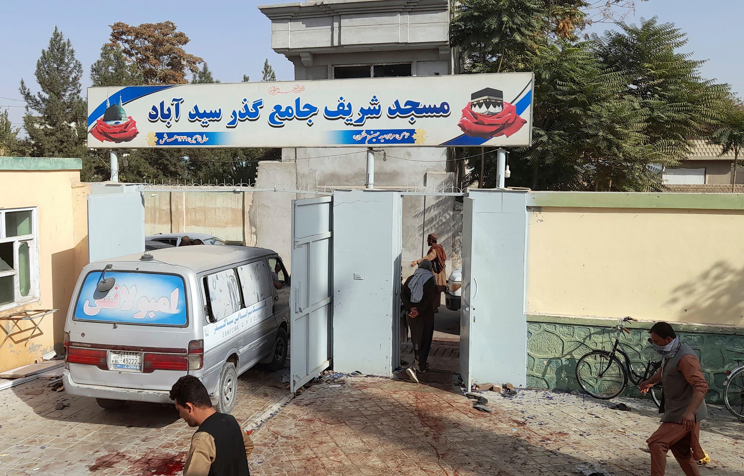 مدخل المسجد المستهدف