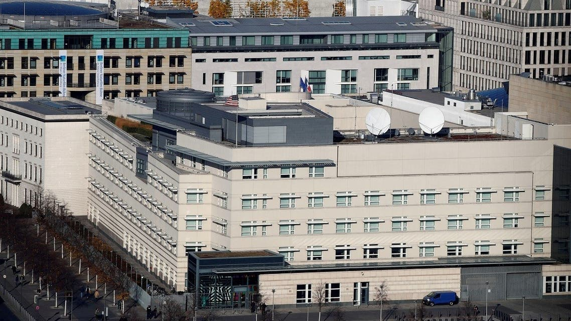 The US Embassy is pictured in Berlin, Germany. (File Photo: Reuters)