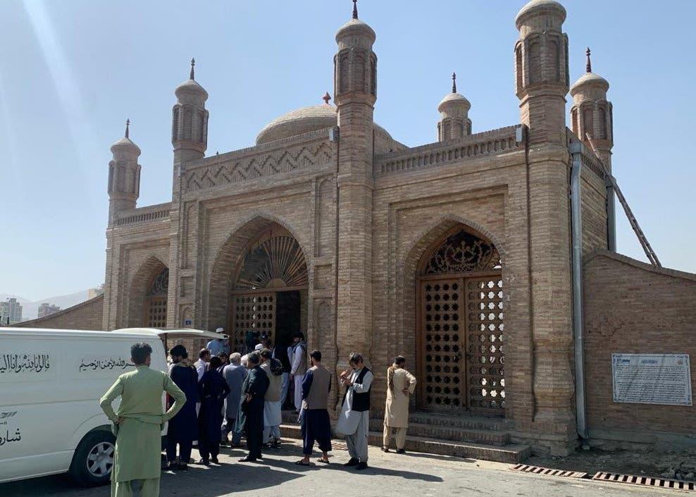 مسجد في كابل استهدفه تفجير في 3 أكتوبر الحالي (أرشيفية)
