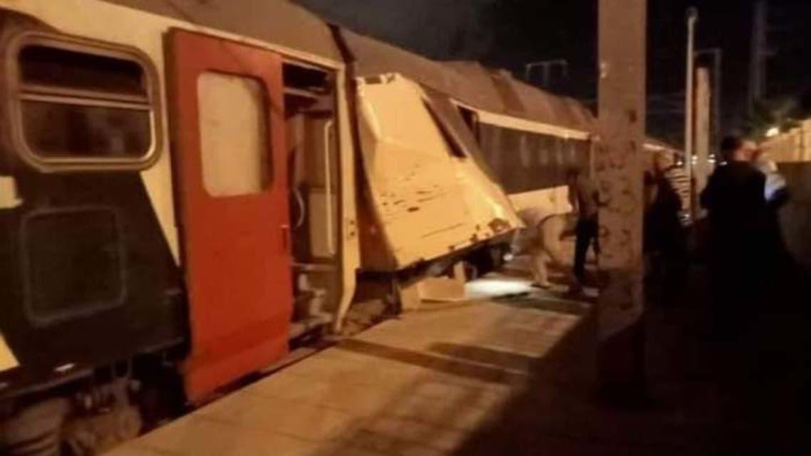 من حادث القطارين  تونس