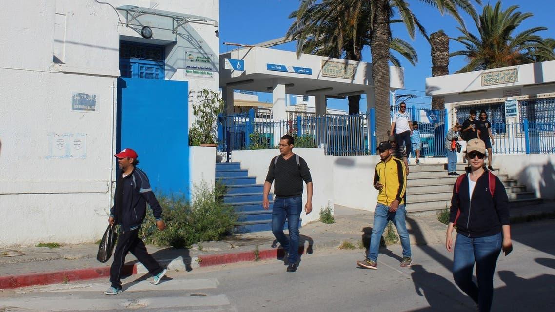 People leave a train station in La Marsa near Tunis, Tunisia. (File photo: Reuters)