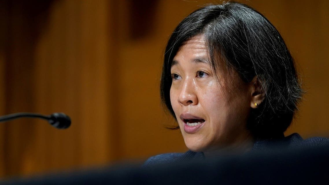 US Trade Representative Katherine Tai testifies before the Senate Finance Committee on Capitol Hill in Washington, US. (Reuters)