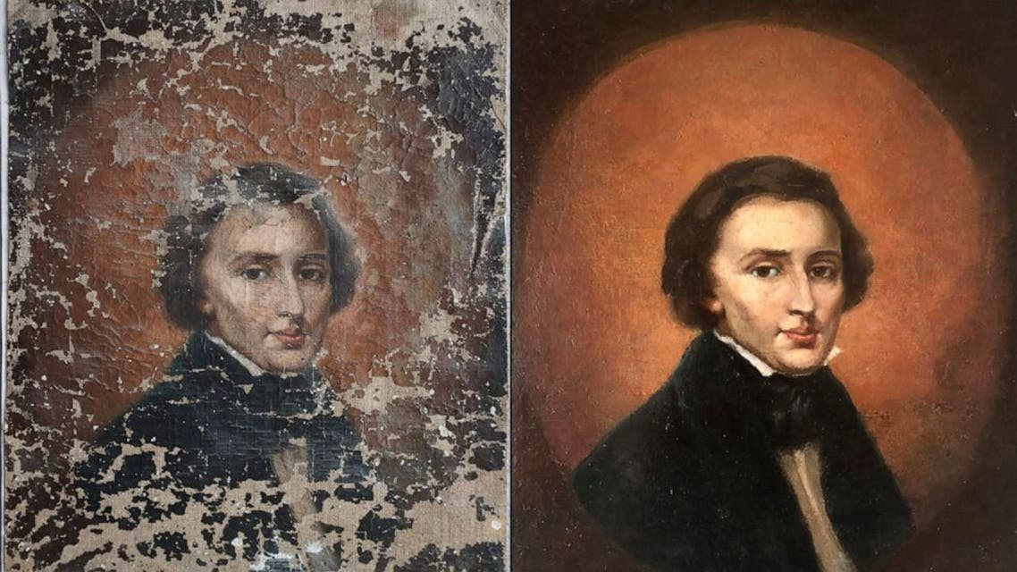 Frederic Chopin portrait. (Twitter)
