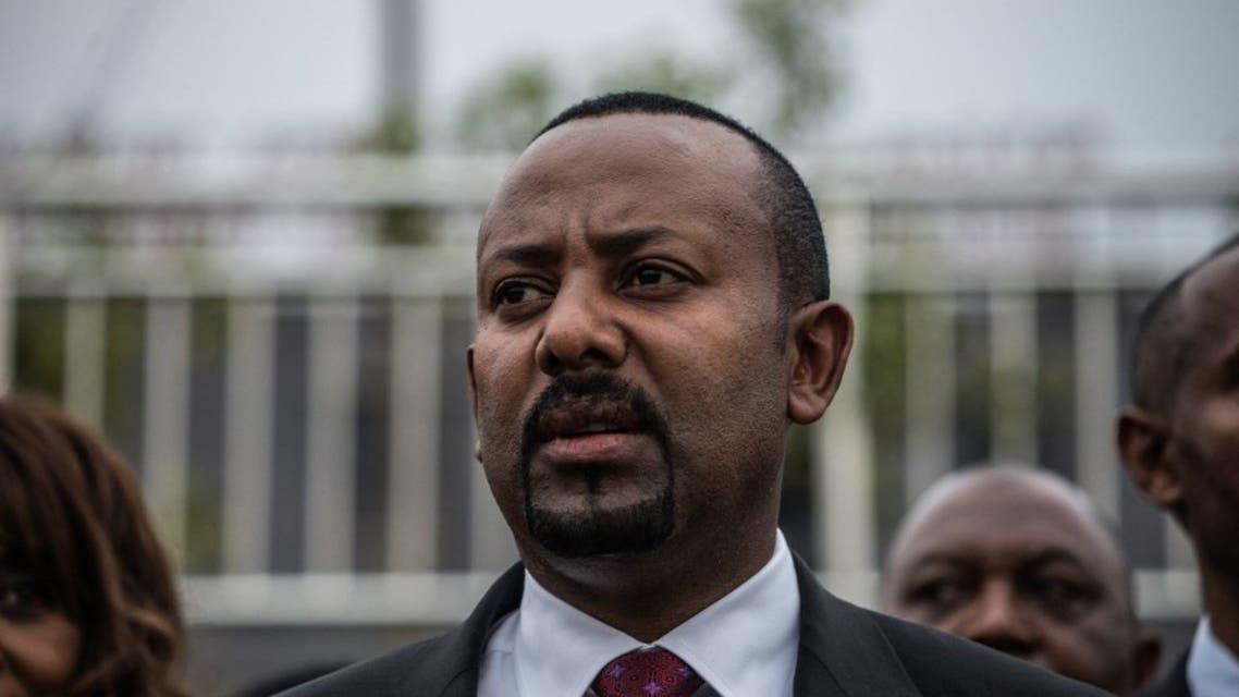 Prime Minister of Ethiopia Abiy Ahmed arrives for the Meskel Square inauguration in Addis Ababa on June 13, 2021. (AFP)