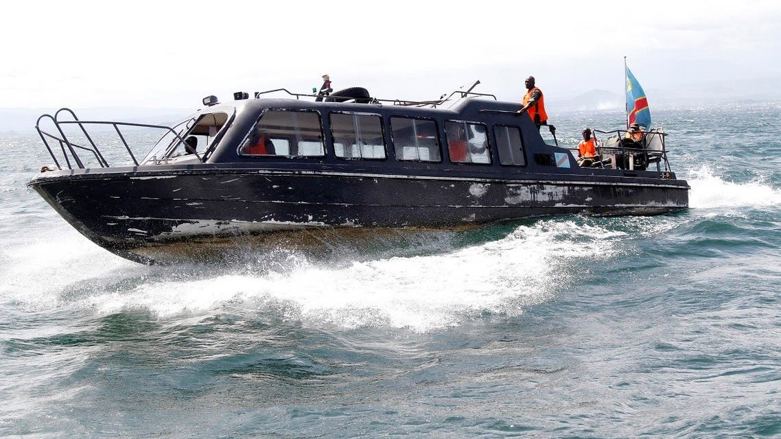 File photo of Congolese soldiers use their boat to search for passengers of a boat that capsized in Lake Kivu near Goma in eastern Democratic Republic of Congo. (Reuters)