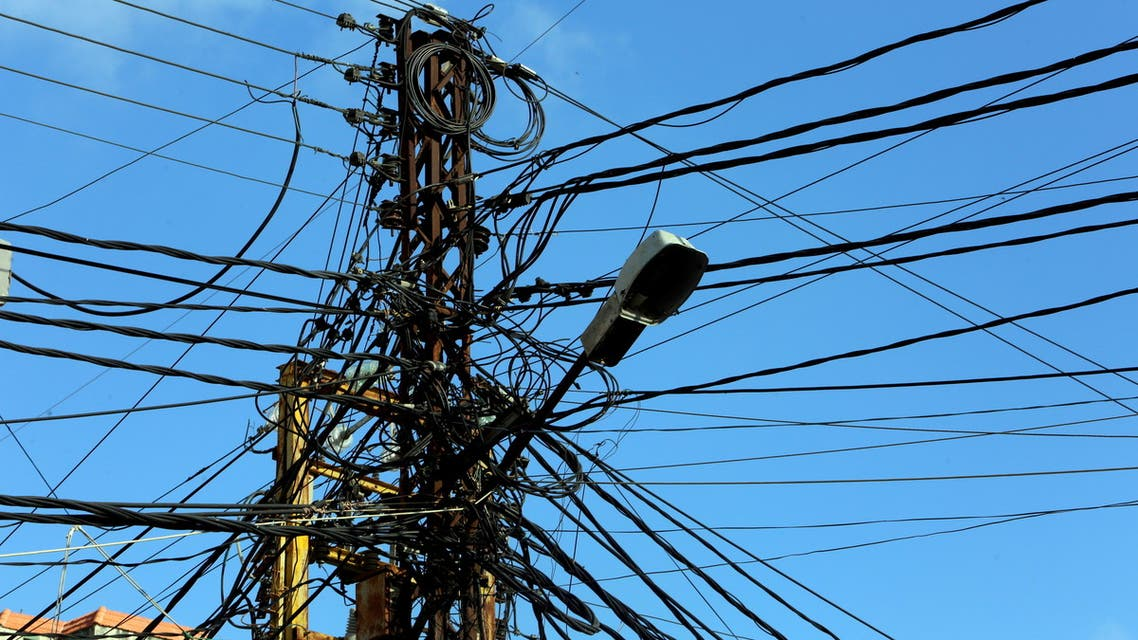 Electricity cables are seen in Tyre, Lebanon July 18, 2020. (File Photo: Reuters)