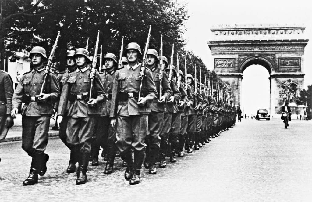 جانب من القوات الألمانية بباريس