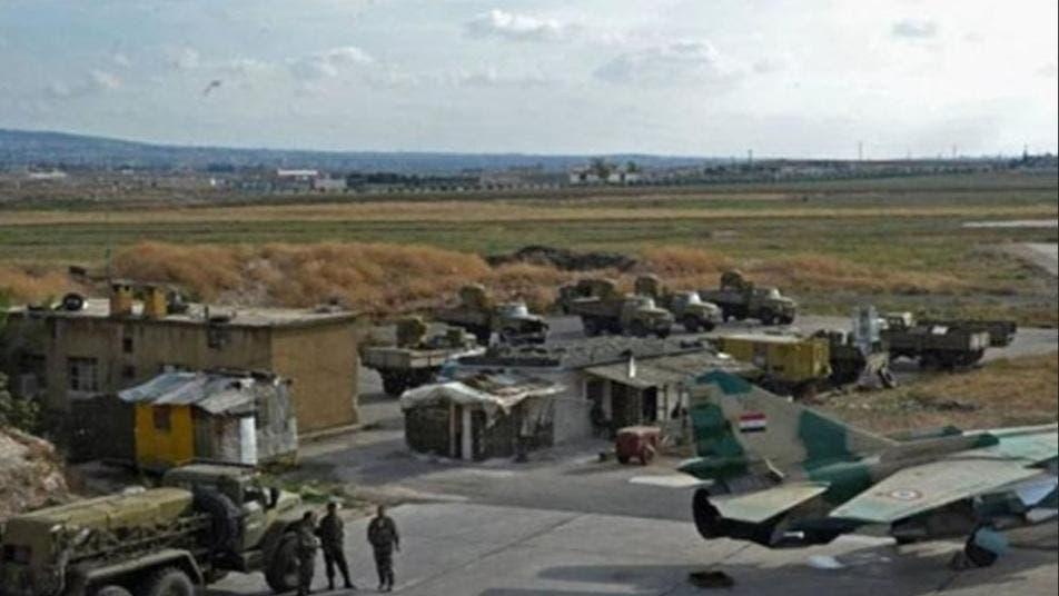 صورة متناقلة لمطار التيفور في حمص