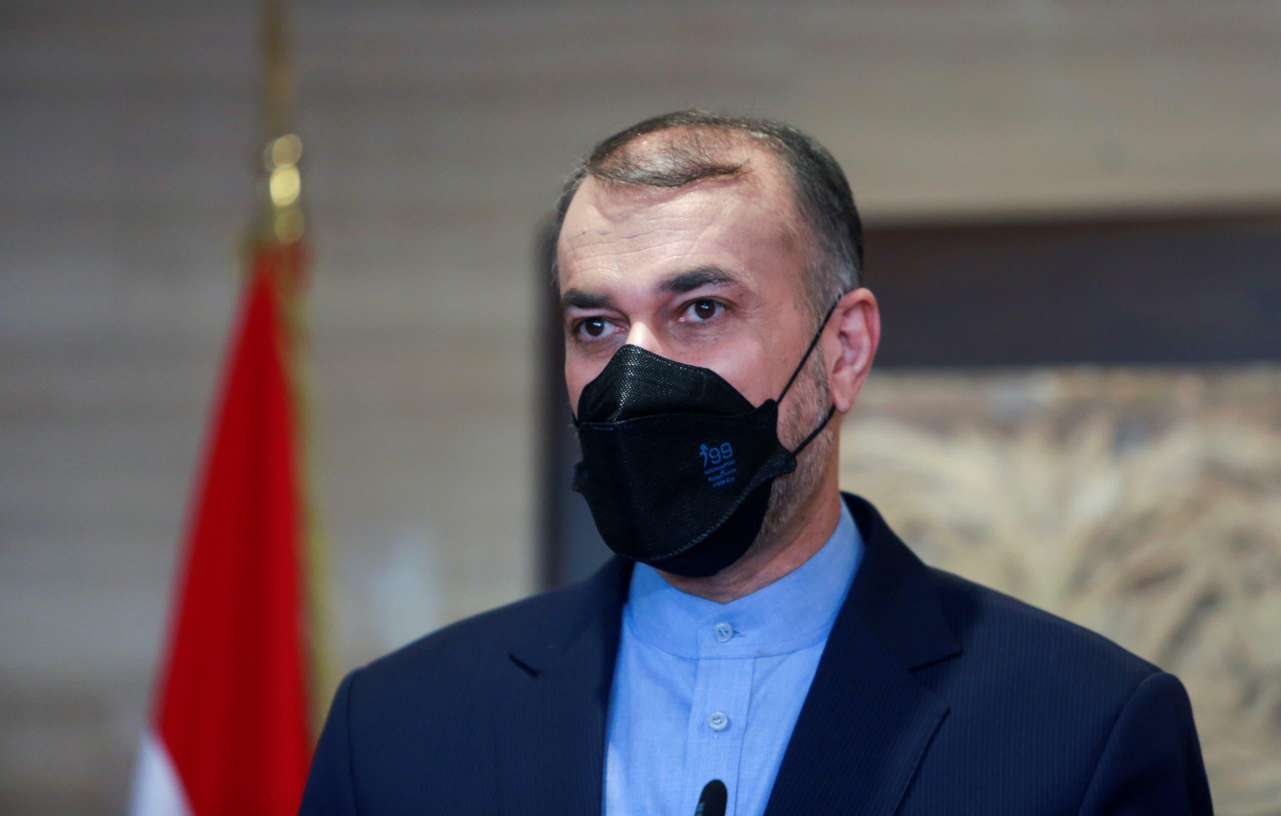 وزير الخارجية الإيراني حسين أمير عبداللهيان أمس في بيروت