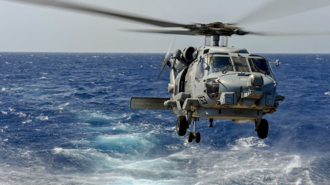 This handout picture released by the US Navy on May 9, 2019 shows an MH-60R Sea Hawk Helicopter. (AFP)