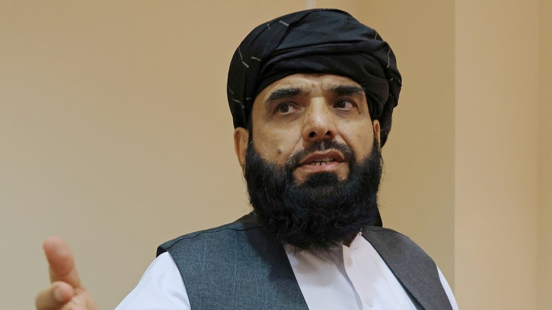 FILE PHOTO: Taliban spokesman?Suhail Shaheen leaves after a news conference in Moscow, Russia July 9, 2021. REUTERS/Tatyana Makeyeva/File Photo