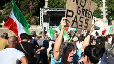 Thousands, including far-right groups, protest in Rome against COVID-19 health pass