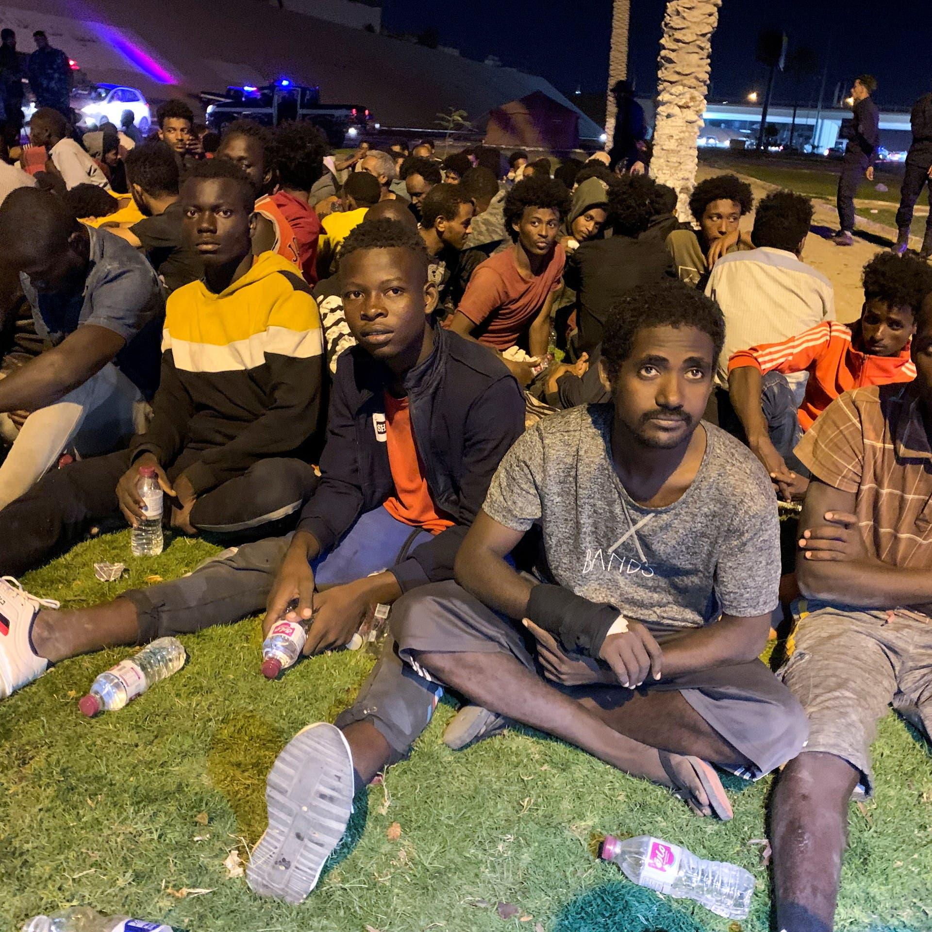 منظمة الهجرة: ليبيا تحتجز 10 آلاف مهاجر في ظروف سيئة